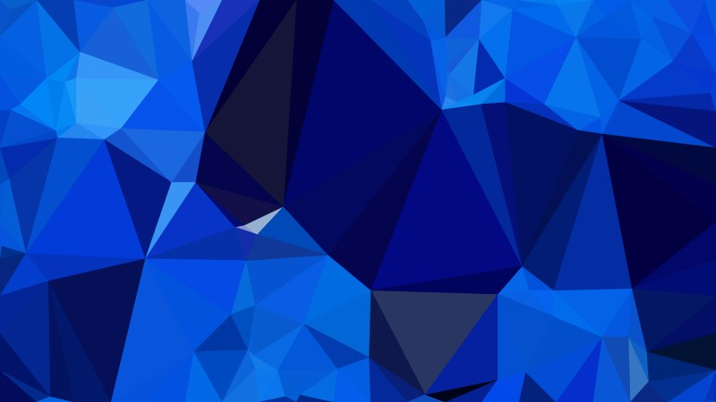 Abstract Cobalt Blue Polygonal Triangular Background