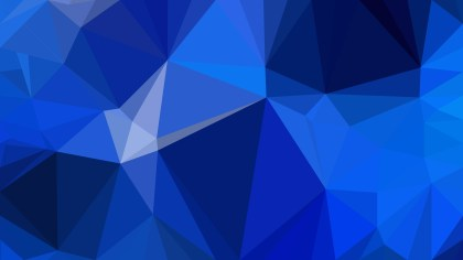 Abstract Cobalt Blue Polygon Triangle Background Vector Illustration