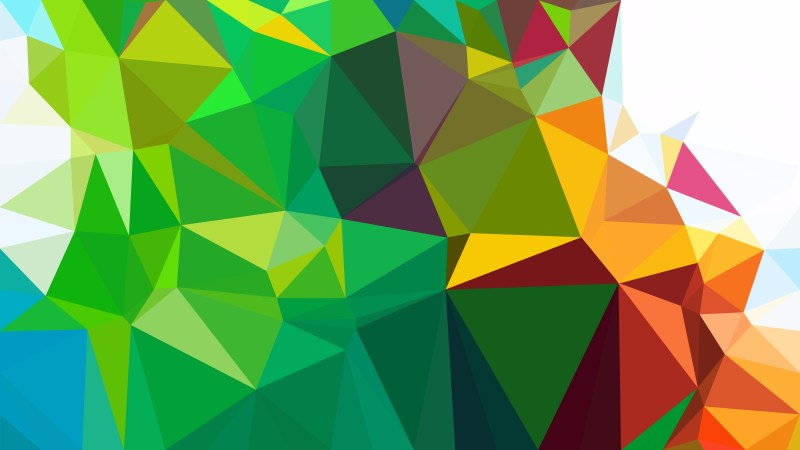 Abstract Colorful Polygonal Triangle Background