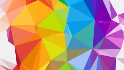 Abstract Colorful Polygonal Triangular Background