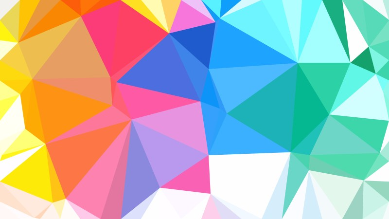 Colorful Polygon Pattern Background Vector Art