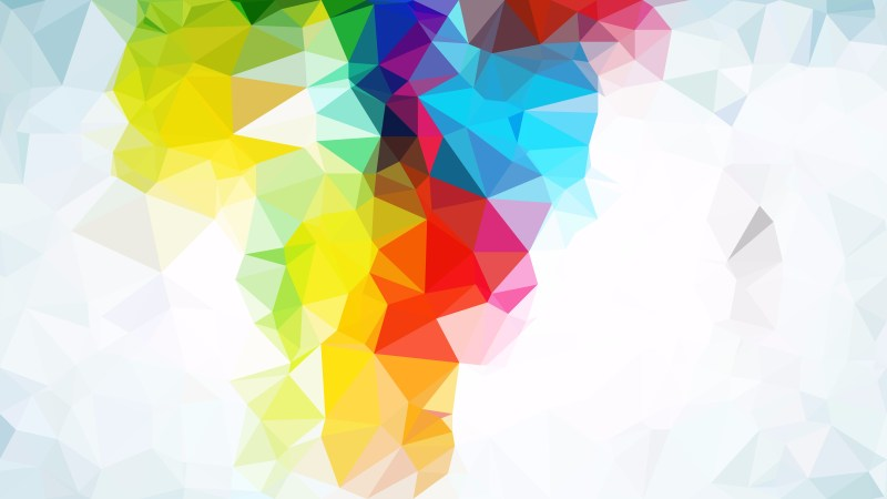 Colorful Low Poly Background Template Design
