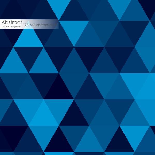 Dark Blue Triangle Background