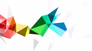 Colorful Polygon Triangle Background Vector Image
