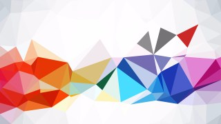 Colorful Polygonal Triangle Background Illustrator
