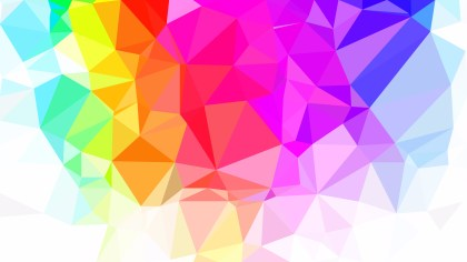 Colorful Polygonal Triangular Background Vector Illustration