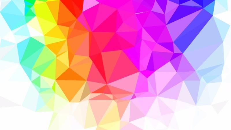 Colorful Polygonal Triangular Background Vector Illustration