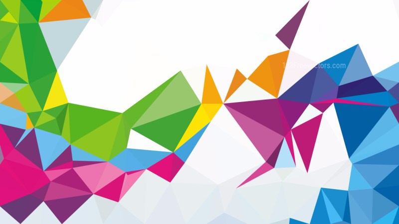 Abstract Colorful Polygon Pattern Background Vector Art