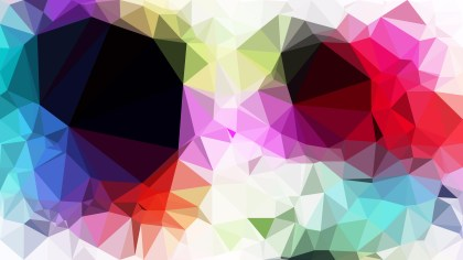 Abstract Colorful Polygon Background Template Graphic
