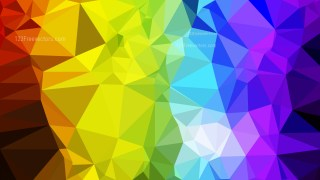 Abstract Colorful Low Poly Background Illustration