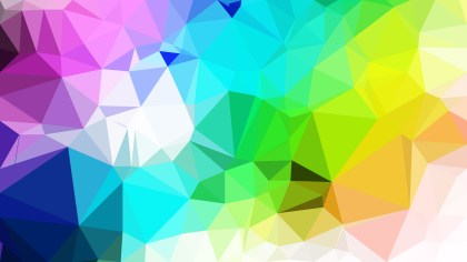 Abstract Colorful Low Poly Background Template Design