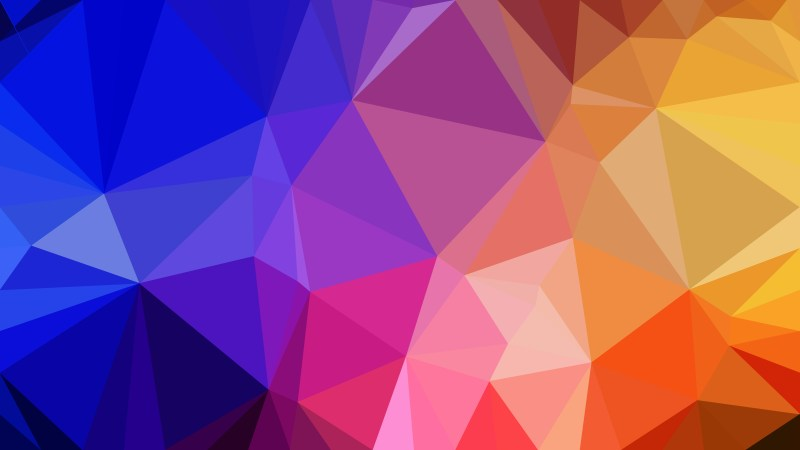 Abstract Colorful Polygonal Triangular Background Vector Illustration