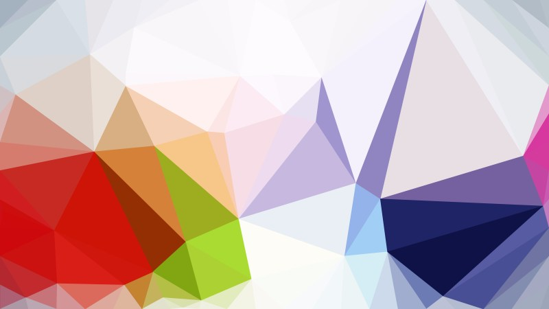 Colorful Polygonal Background Template