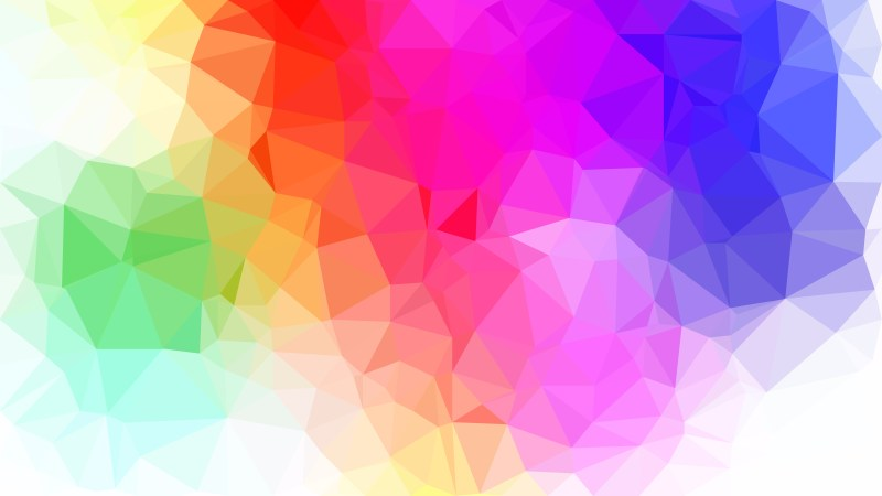 Colorful Polygon Triangle Background