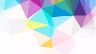 Colorful Polygonal Triangle Background