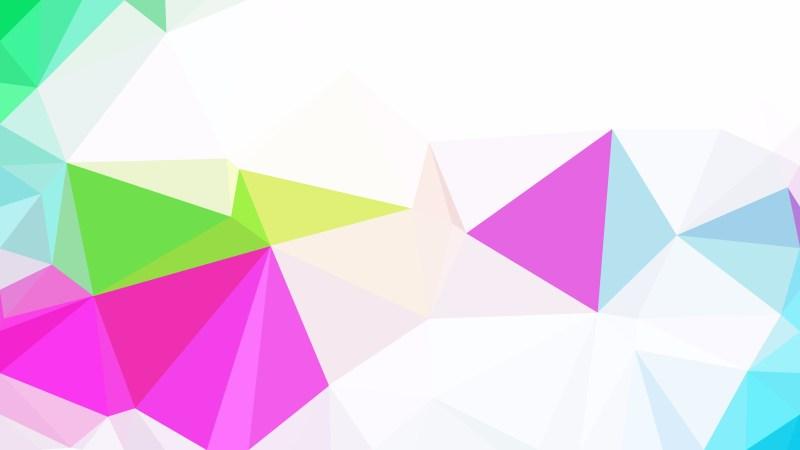 Colorful Polygonal Triangular Background
