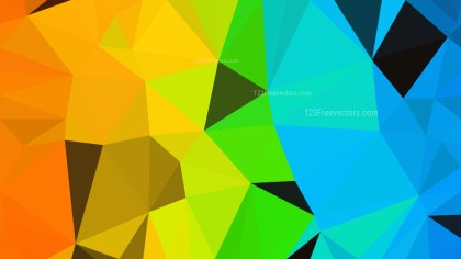 Colorful Polygonal Triangle Background Vector