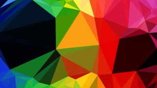 Abstract Colorful Low Poly Background Image