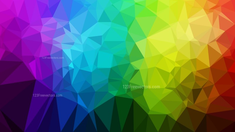 Abstract Cool Polygonal Background Template Vector Graphic