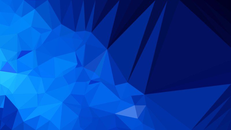 Abstract Cool Blue Polygon Pattern Background