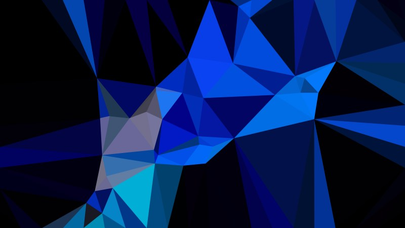 Cool Blue Polygon Background Vector