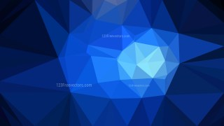 Cool Blue Low Poly Background Illustration