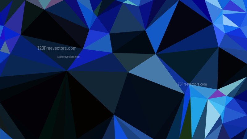 Cool Blue Low Poly Background