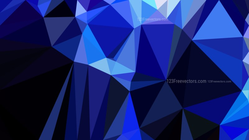 Abstract Cool Blue Polygonal Triangular Background