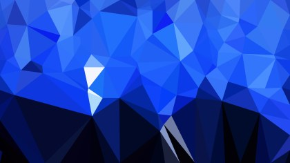 Abstract Cool Blue Polygonal Triangle Background Vector