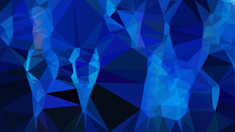 Abstract Cool Blue Polygonal Triangle Background