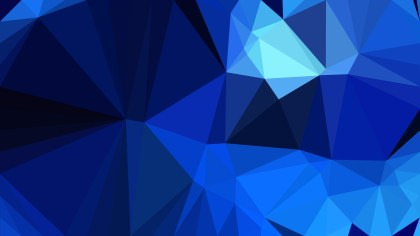 Cool Blue Polygon Background Template Design