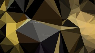 Abstract Cool Gold Polygonal Background Template Vector Graphic
