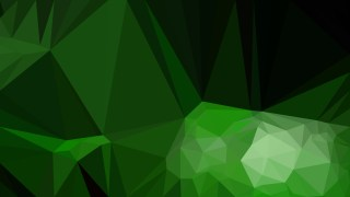 Cool Green Polygonal Abstract Background Vector Illustration
