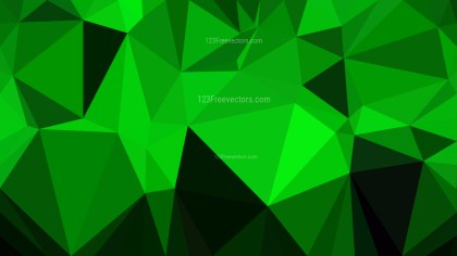 Abstract Cool Green Polygonal Background Template Vector Graphic