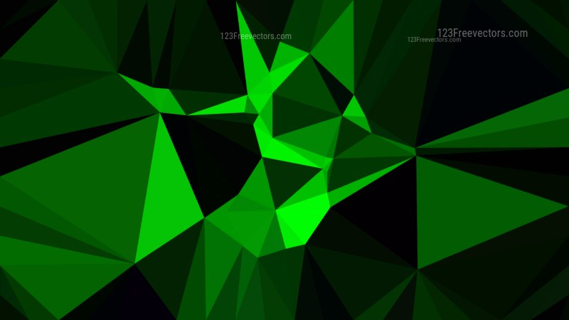 Abstract Cool Green Polygon Background Design Vector
