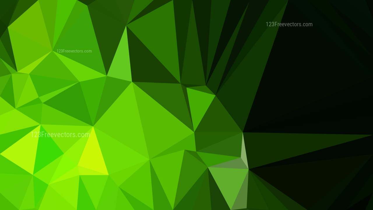 green low poly background design