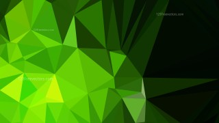 Abstract Cool Green Low Poly Background Design Vector Graphic