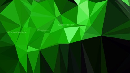 Abstract Cool Green Polygon Background