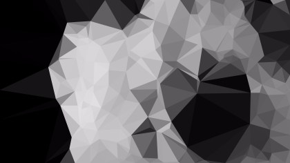 Cool Grey Polygonal Abstract Background Design