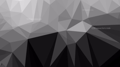 Cool Grey Polygon Triangle Pattern Background Vector Art