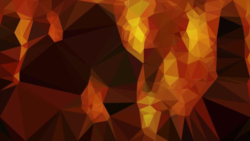 Cool Orange Polygon Background Design Graphic