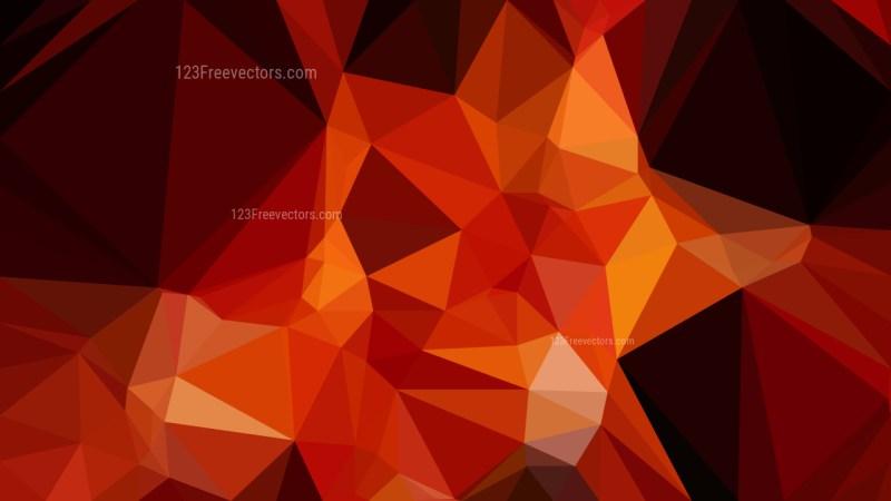 Cool Orange Polygon Background