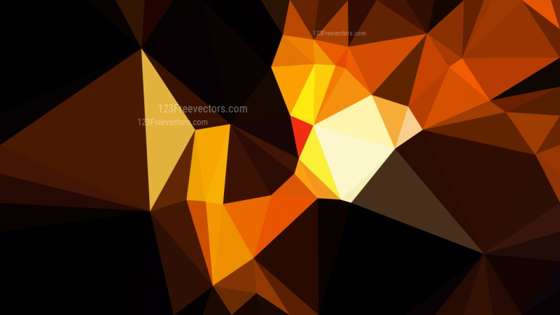 Abstract Cool Orange Polygonal Triangle Background Illustrator