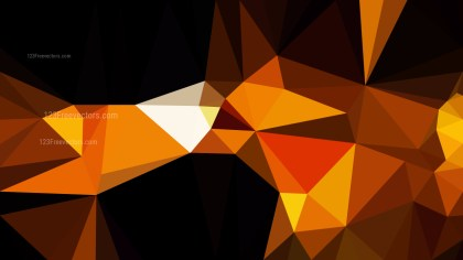 Abstract Cool Orange Polygonal Triangular Background Vector Illustration