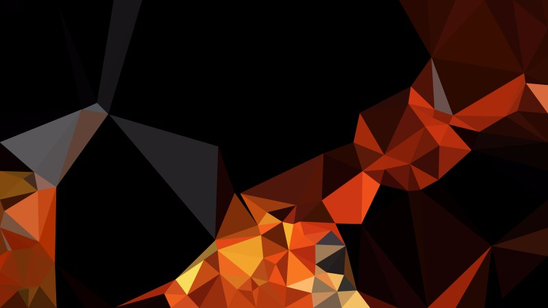 Cool Orange Low Poly Background Design
