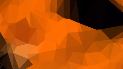 Abstract Cool Orange Polygon Background Design