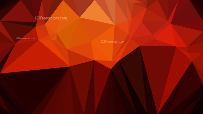 Cool Orange Low Poly Background Design Graphic