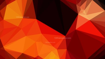 Abstract Cool Orange Polygon Background Graphic