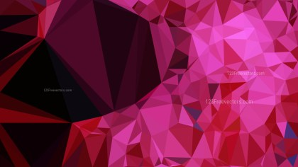 Cool Pink Polygonal Abstract Background Vector Illustration