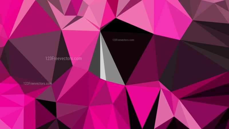 Abstract Cool Pink Polygonal Background Vector Image